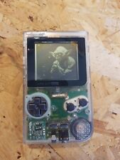 Gameboy Pocket Handheld Console, Original MGB-001, Clear with yoda stories game