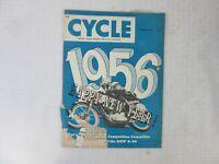 VINTAGE 'CYCLE' MOTORCYCLE MAGAZINE, JANUARY 1956
