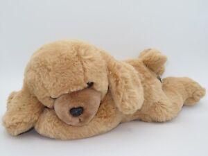 "Russ Berrie Doozer Puppy Dog 16"" Tan Golden Retriever Laying Plush Vintage Brown"