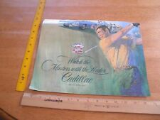 1971 Agusta The Masters Cadillac auto brochure golf holes Fleetwood painted