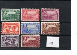 Montserrat - George V1 (03) - 1938 - Definitives - 8 values - mint - SG Cat £15
