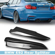 Carbon Fiber BMW 3-Series E92 E93 2D M3 Rear Side Bumper Lip Splitter 80-13