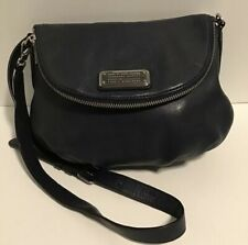 MARC BY MARC JACOBS Q NATASHA CLASSIC NAVY BLUE PEBBLED LEATHER CROSS-BODY