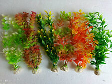 "Aquarium Artificial / Plastic Plant 6 in 1  for Decoration - 8"" Height"