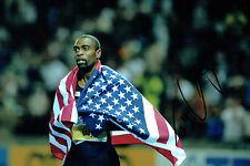 Tyson GAY Autograph 12x8 Signed Photo AFTAL COA American SPRINTER USA Athletics