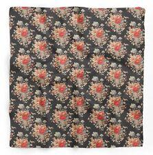 Blätter,Bodendecker Rosen & Miosotis Blumen-gedruckt Kopf Hals Wickeltuch-FL-94J