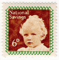 (I.B) Cinderella Collection : National Savings - Princess Anne 6d (1953)