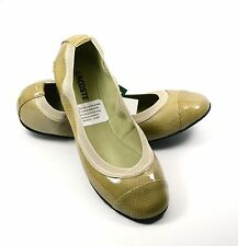 Size 7.5 Lacoste Constance 4 Ballet Flat Shoes Patent Leather Light Brown