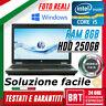 "PC NOTEBOOK PORTATILE HP 6460B 14"" CPU INTEL i5 8GB RAM HDD 250GB WIN 10 PRO"