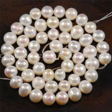 Natural 8-9mm White Akoya Freshwater Cultured Pearl Loose Beads 15''