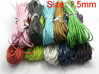 3//10//100 Meter Leather Necklace Charms Rope String Cord 1.5//2.0 mm Any Color
