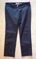 EUC Women's Michael Kors Wellesley Ankle Fit Black Pants-size 8