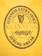Vintage Burnout Thin Guinness Spring Break Beer Florida Thrashed Punk T Shirt M