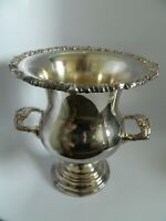"""Sheridan Taunton Silversmiths 11"""" Silver Plated Engraved Trophy  Loving Cup"""