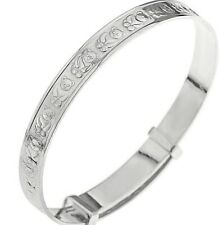 925 Sterling Silver Baby Bangle Christening, Birthday Present Expanding, Boxed