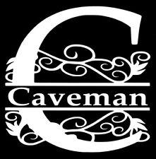Personalized Custom Vine Split Letter & Name Monogram Decal Yeti Cup / Tumbler