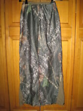 Stearns Mossy Oak BreakUp waterproof camo rain pants kids boys S brown hunting
