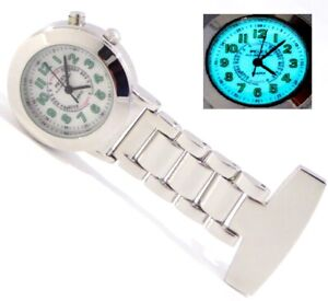 Pelex Easy Read Pulsometer Marking dial Nurse FOB Watch with Backlight