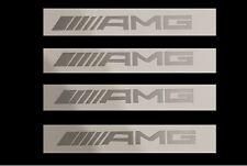 4x AMG Bremssattel Bremse Sticker Aufkleber MB Power SLK63 CL63 CLK63 silber