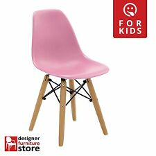 Replica Charles Eames DSW Kids Chair (Beech Wood Legs) - Pink