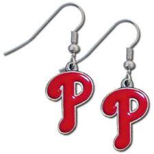 Philadelphia Phillies Dangle Earrings (Chrome) Licensed MLB Baseball Jewelry