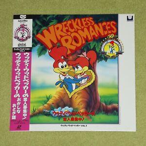 WOODY WOODPECKER Volume 1: Wreckless Romances - RARE 1990 JAPAN LASERDISC + OBI
