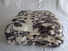 "Berkshire Blanket SoftLuxury Oversized Throw 50"" x 70"" (Branch Stripe Grey) -USA"