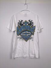 chevrolet racing white t shirt medium tultex vintage mens
