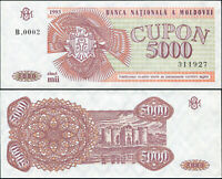 Moldavie 5000 Cupon. NEUF 1993 Billet de banque Cat# P.4a