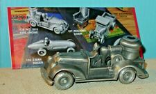 ARCADIAN PEWTER FIRE ENGINE - AUTHENTIC REPLICA OF ANTIQUE CAST IRON TOY - USED