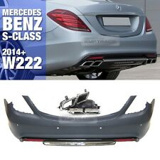 S63 S65 AMG Style Rear Bumper W/ PDC Body Parts For Mercedes Benz 14-16 S W222