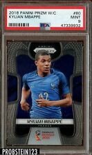 2018 Panini Prizm World Cup Kylian Mbappe PSA 9 Mint Rookie RC #80