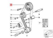 Genuine BMW E30 E34 E36 Cabrio Coupe Gear Wheel Tooth Belt OEM 11311717796