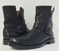 New Frye Women's 7B Veronica Bootie Short Boots Black Leather Size 7B 3478512