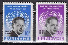 Suriname - 1962 Death of Hammarskjold Mi. 413-14A MNH