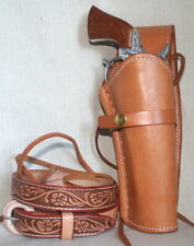 American-Made Cap Gun w Leather Holster and Belt HIGH QUALITY CapGunSet 70027