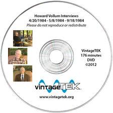 Video Interviews with Tektronix founder Howard Vollum - DVD