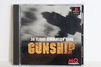 GUNSHIP W/ Reg Card PS1 PS 1 PlayStation PSX One Japan Import US Seller