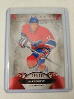 SAKU KOIVU 2020-21 UPPER DECK ARTIFACTS RUBY PARALLEL 294/399 MONTREAL CANADIENS