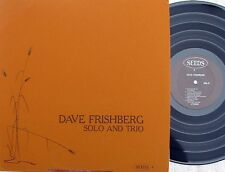 Dave Frishberg ORIG US LP Solo and trio NM '75 Seeds 4 Jazz vocal Bop