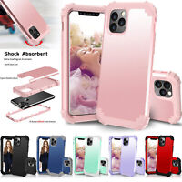 For Apple iPhone 12 Pro Max SE Rubber Shockproof Heavy Duty Hard Back Case Cover