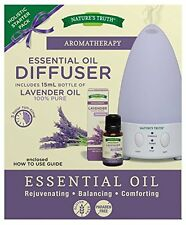 Nature's Truth Aromatherapy Essential Oil Diffuser Starter Pack, Lavender