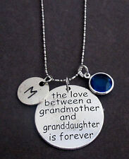 Personalized Grandmother Necklace, Grandmother and Granddaughter Gift Necklace