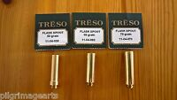 THREE TRESO flask spout Powder Measure, Muzzleloader 50, 60, 70 grains USA