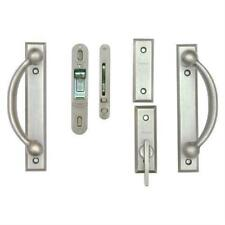Anderson Newbury Yuma 2-Panel Door Hardware Set Distressed Nickel (P4)