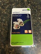 Leviton R16-40833-T Quick Port Audio Video Binding Post Connectors Light Almond