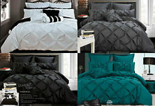 Diamond Pintuck Black White Teal Grey Quilt cover set Duvet Cover Set / options