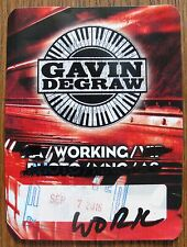GAVIN DEGRAW ~ Backstage Pass 2016 Tour - Soft Patch