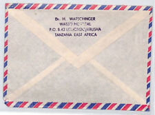 CA71 East Africa 1970s Kenya Tanzania WASSO HOSPITAL Cover MISSIONARY VEHICLES