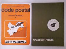 Annuaire des Alpes de Haute Provence 1974 + Code Postal Alpes Maritimes
